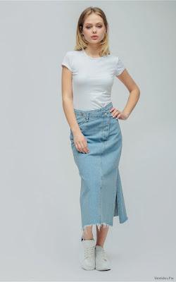 Faldas de Mezclilla Largas