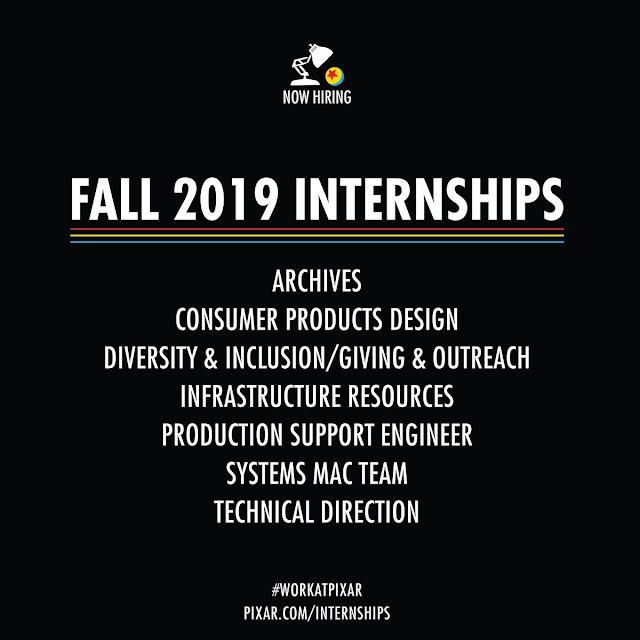 Pixar Internships