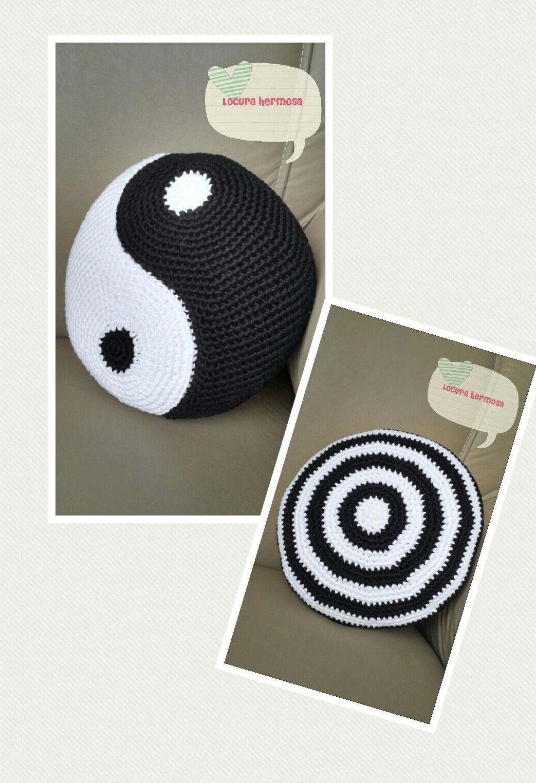 Locura Hermosa: Patrones de almohadones de Yin Yang (ambos hemisferios)
