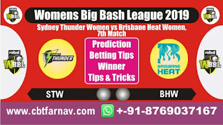 WBBL 2019 STW vs BHW 7th Today Match Prediction Womens Big Bash League 2019