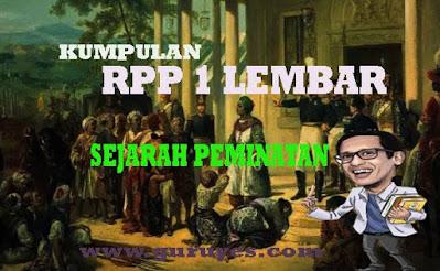 RPP 1 lembar Sejarah Indonesia