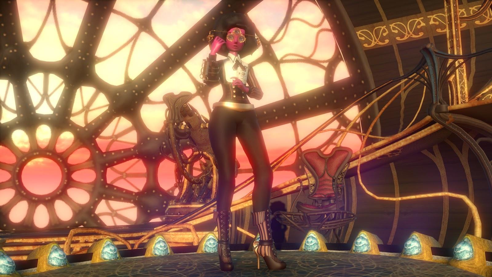 Steampunk Garnet