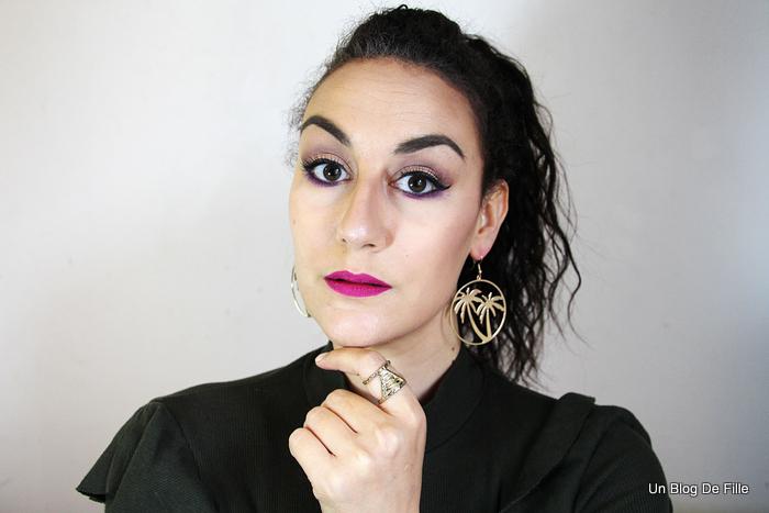 Marie Love Cosmetics: Maquillage dans les tons violet et