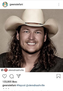 Blake Shelton's Curly Dark Hair Photo Gets Many Reactions From Fans