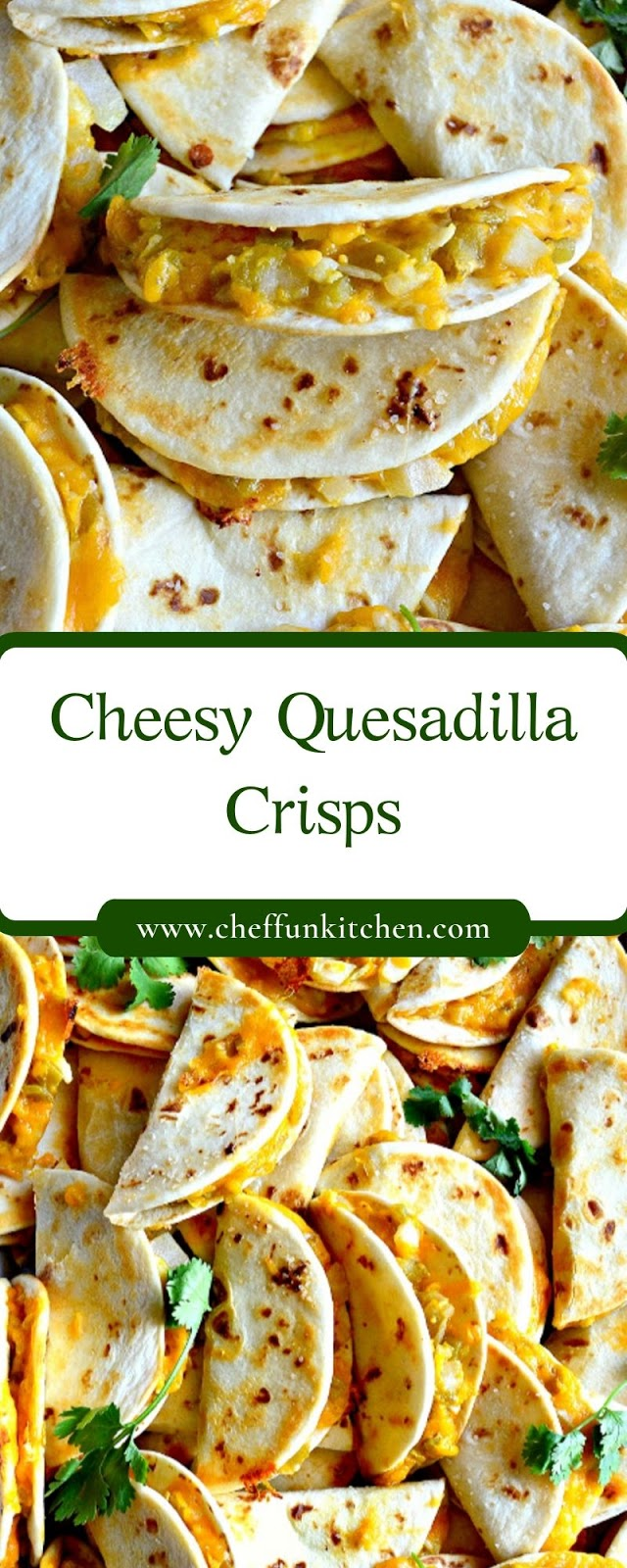 Cheesy Quesadilla Crisps