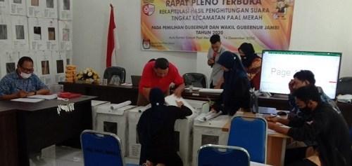 Hari Pertama Pleno di Kecamatan Paal Merah, Haris-Sani Menang Telak di Kelurahan Eka Jaya