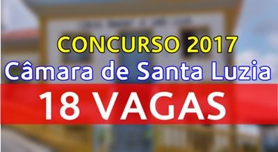 Apostila concurso Câmara de Santa Luzia MG 2017