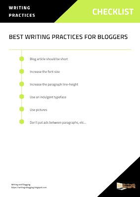 best blogging practices, best writing practices, best writing practices for bloggers