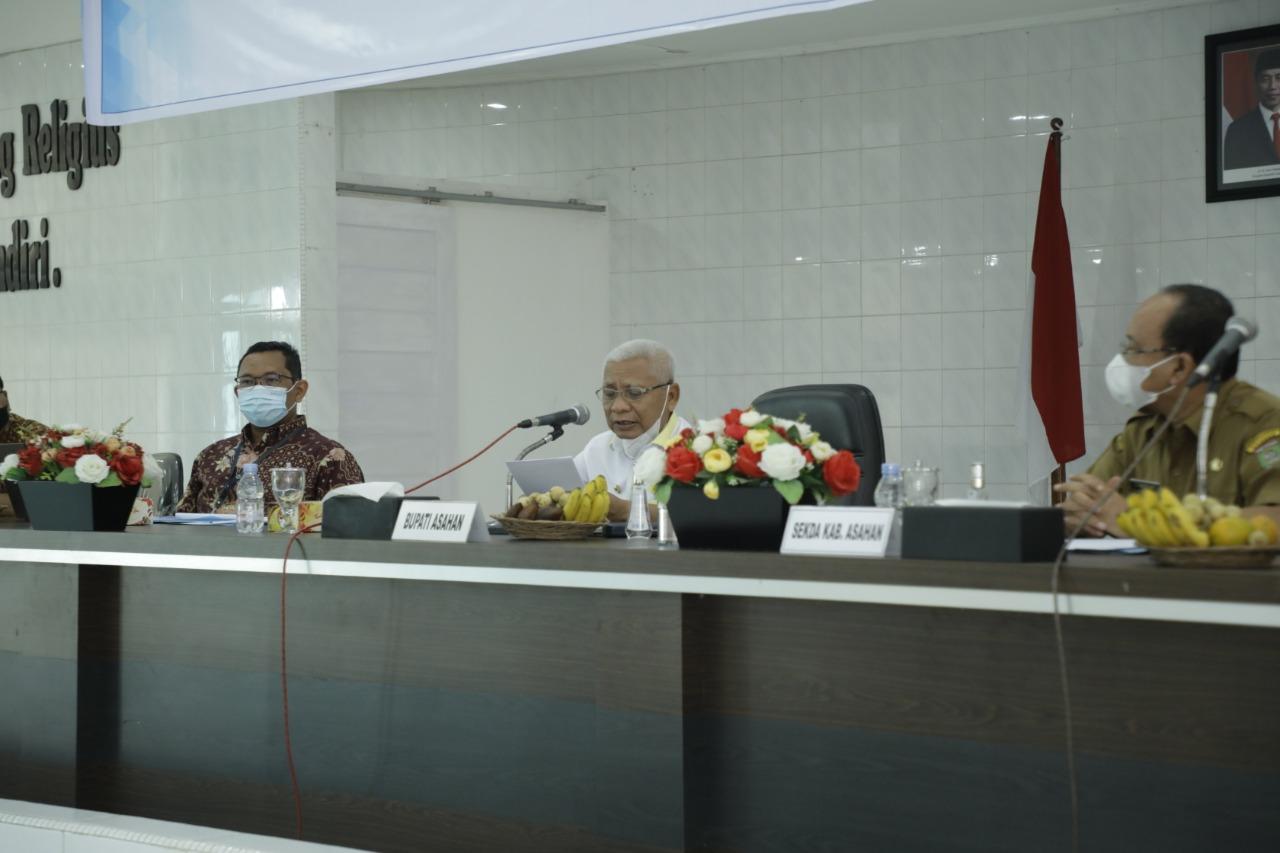 Bupati Asahan Membuka High Level Meeting TPID dan Rencana Pembentukan TP2DD Kab. Asahan