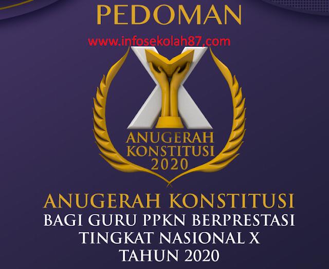 Pedoman penyelenggaraan Anugerah Konstitusi X Tahun 2020