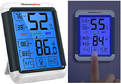 TP55 Thermometer Hygrometer with Touchscreen - Digital Weather Monitor by ThermoPro