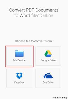 como pasar un archivo pdf a word android