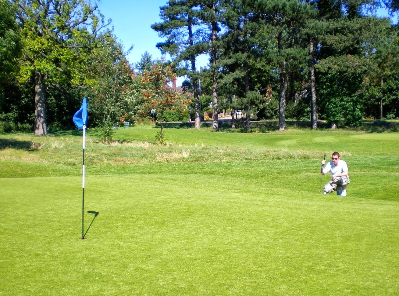 Playing Golf at Stockwood Park's Mini Golf course in Luton