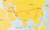 Itinerario de Marco Polo por el continente asiático