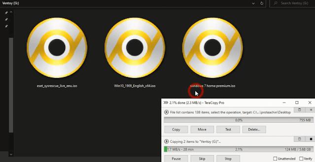 حرق ويندوز 7 و 8.1 و 10 على فلاشة و حرق لينكس و أسطوانات الانقاذ على Usb شرح ventoy
