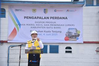 Bupati Zahir Hadiri Pengapalan Perdana Ekspor Produk UMKM Kabupaten Batu Bara