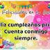 Muchas felicidades querida Prima en el día de tus cumpleaños...