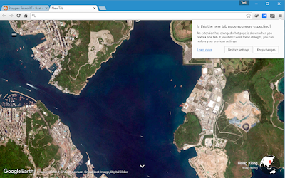Menginstall ekstensi Earth View from Google Earth