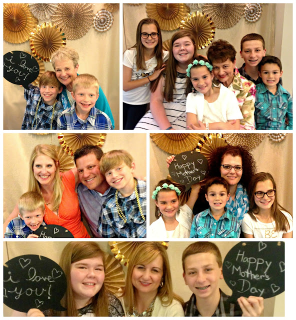 Gold themed Mother's Day Photobooth