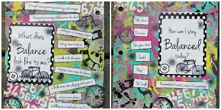 Technique Thursday One Little Word April Pages by Lynn Shokoples