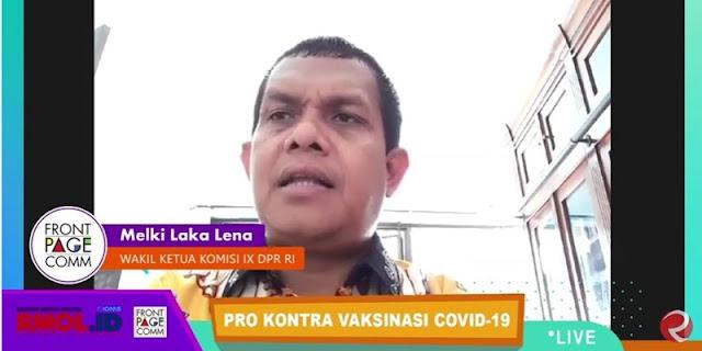 Ribka Tak Wakili Sikap PDIP, Melki Laka Lena: Edy Wuryanto Dan Pak Ganjar Ikut Divaksin Kok