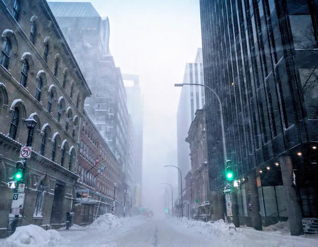 Halifax Nova Scotia during a big winter freeze