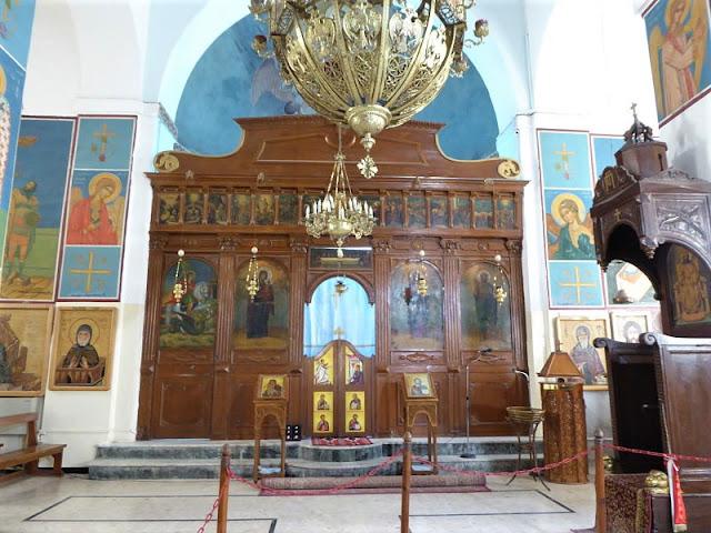 interno chiesa ortodossa san giorgio a madaba