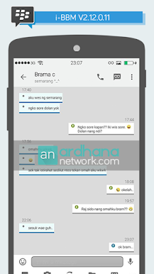 Preview i-BBM V2.12.0.11 - BBM Android Tema iPhone