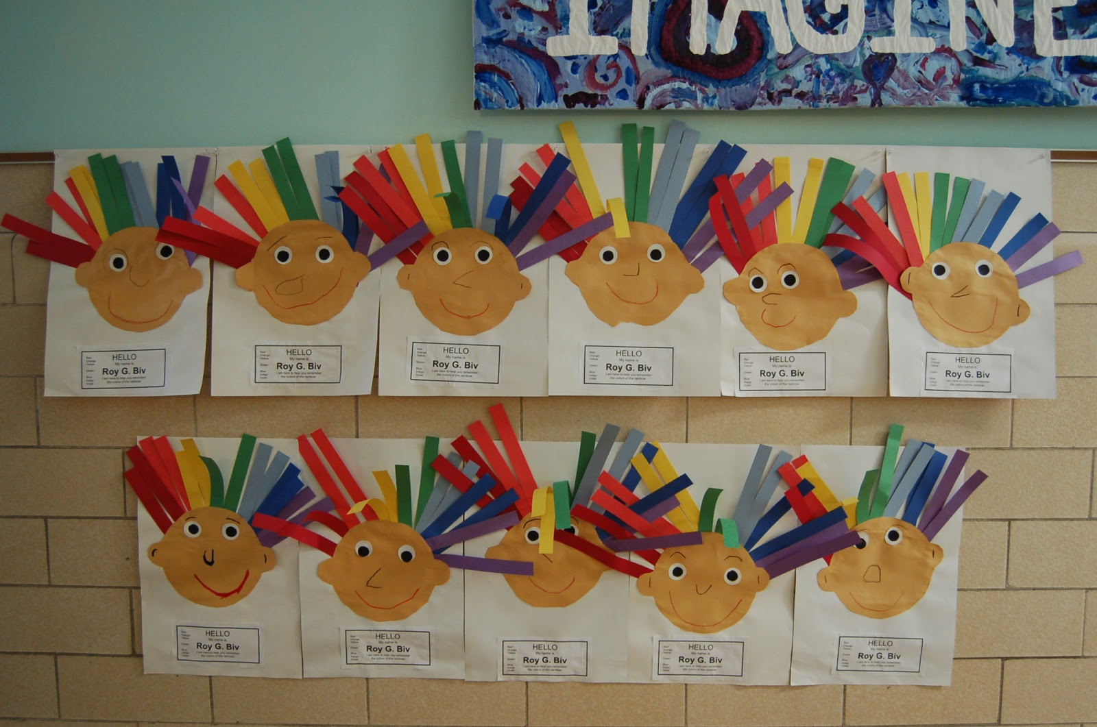 Art With Ms James Kindergarten Hello My Name Is Roy G Biv