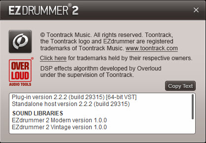 Toontrack EZdrummer 2.2.2