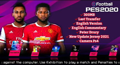 PES 2020 PPSSPP Lite New Jersey 2021