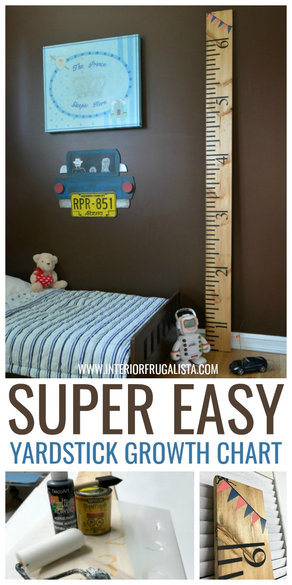 Super Easy DIY Yardstick Growth Chart