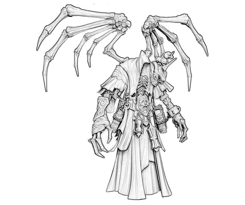 black death coloring pages | Darksiders II Death Reaper Characters | Yumiko Fujiwara