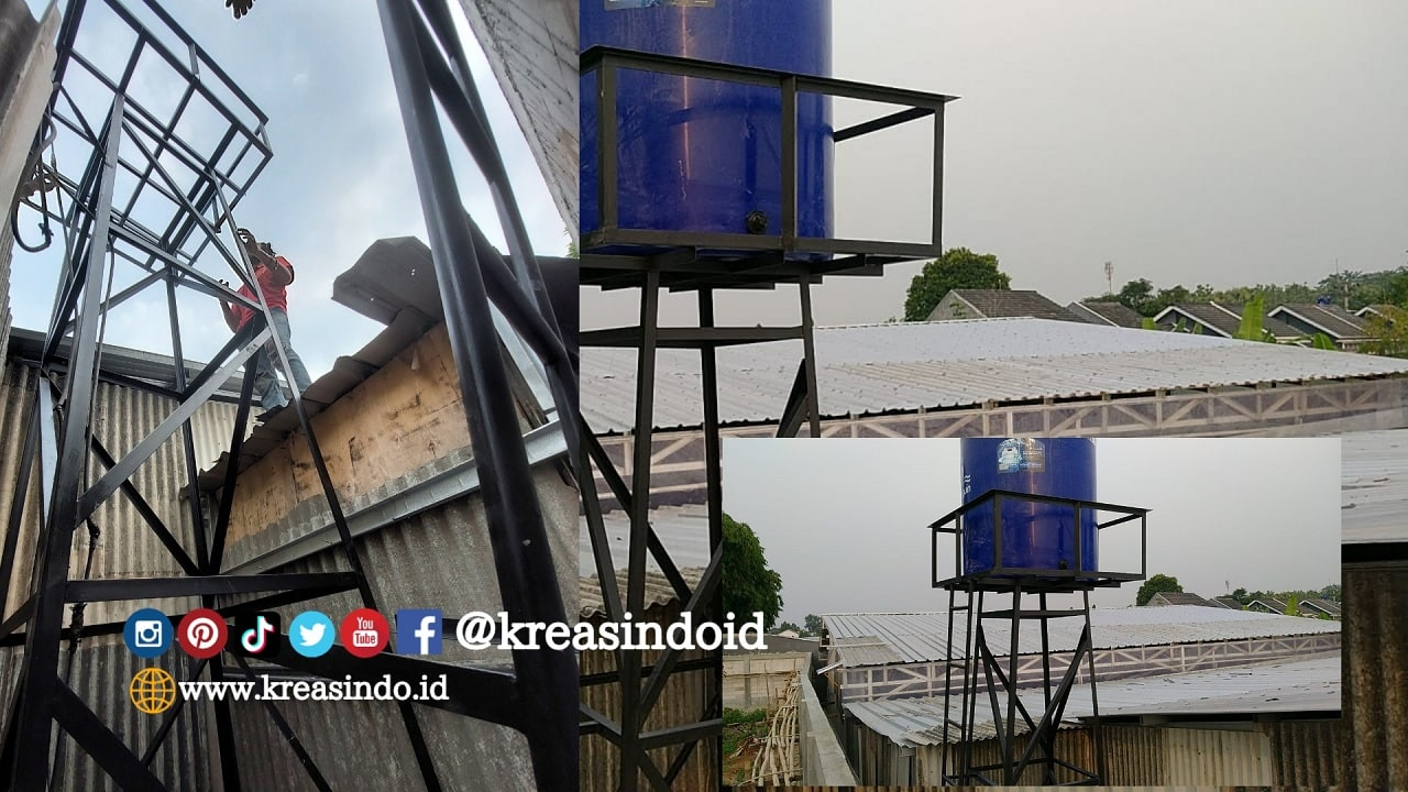 Menara Air Besi pesanan Modesty Sofa di Kebon Duren Depok