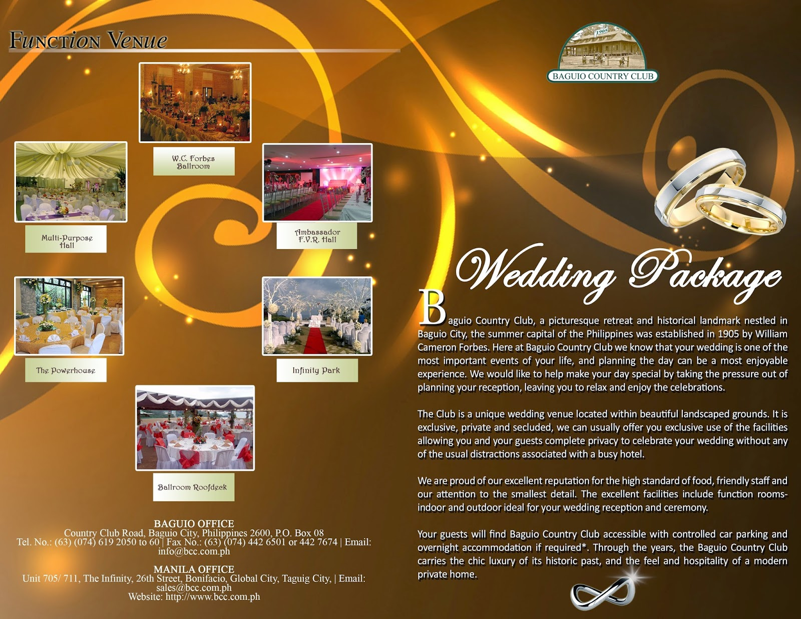 Latest Bcc And I Do Wedding Package