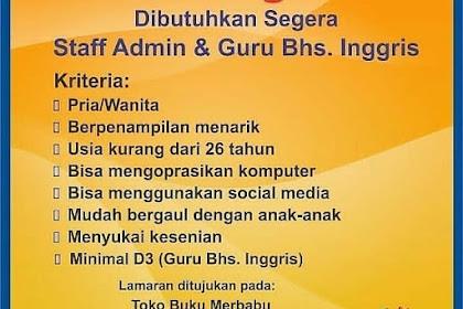 Info Lowongan Kerja Guru Bahasa Inggris Merbabu Semarang