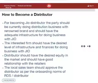 Jiomart distributionship
