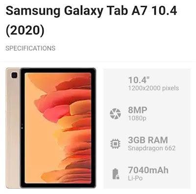 Samsung galaxy tab 2020