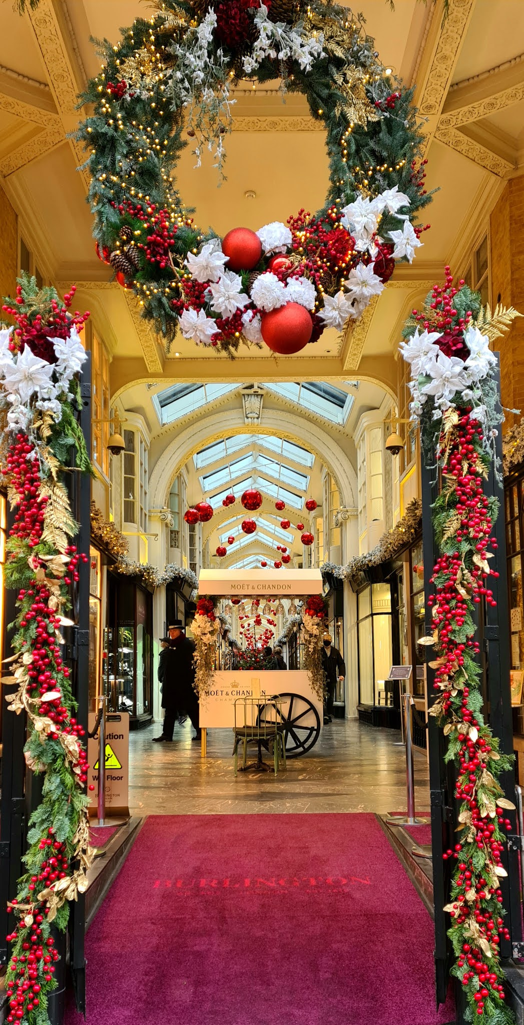 Christmas decorations at Burlington Arcade in London