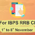 GK Tonic for IBPS RRB Clerk Mains 2017 (01st November to 08th November )