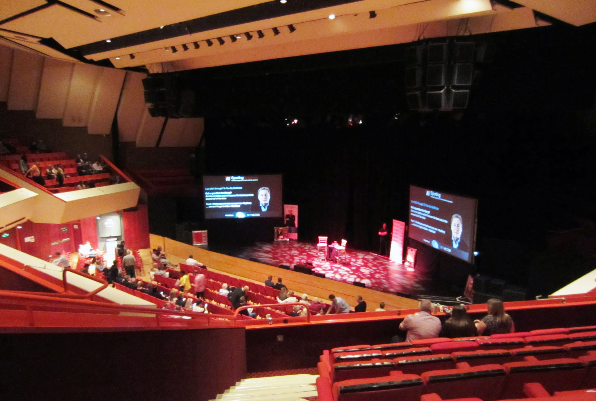 The auditorium inside The Hexagon theatre in Reading