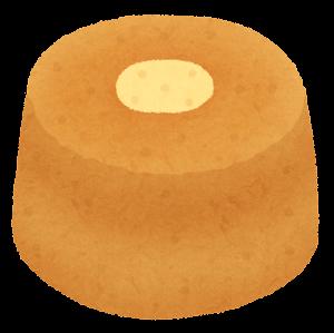 シフォンケーキのイラスト(ホール・プレーン)