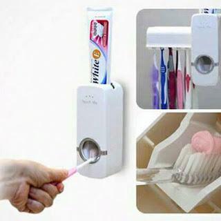 jual barang unik murah, grosir barang unik, supplier barang unik, jual dispenser odol touch me, jual dispenser odol dan sikat gigi