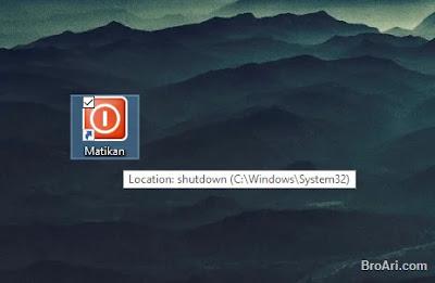 Membuat Shortcut Shutdown di Windows 10