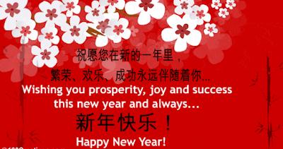 Wish happy new year in chinese language