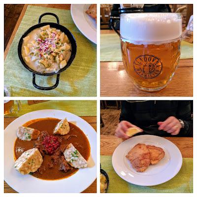 Slovak cuisine served in Bratislava in winter
