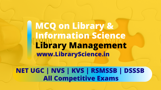 MCQ Library Science English
