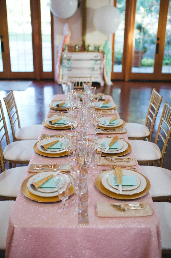 Blue Wedding Table Settings