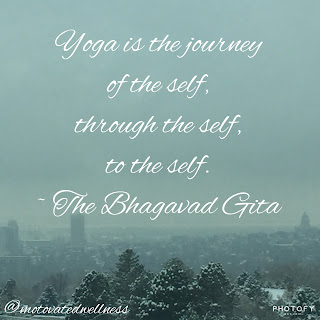 Yoga is the journey of the self, through the self, to the self