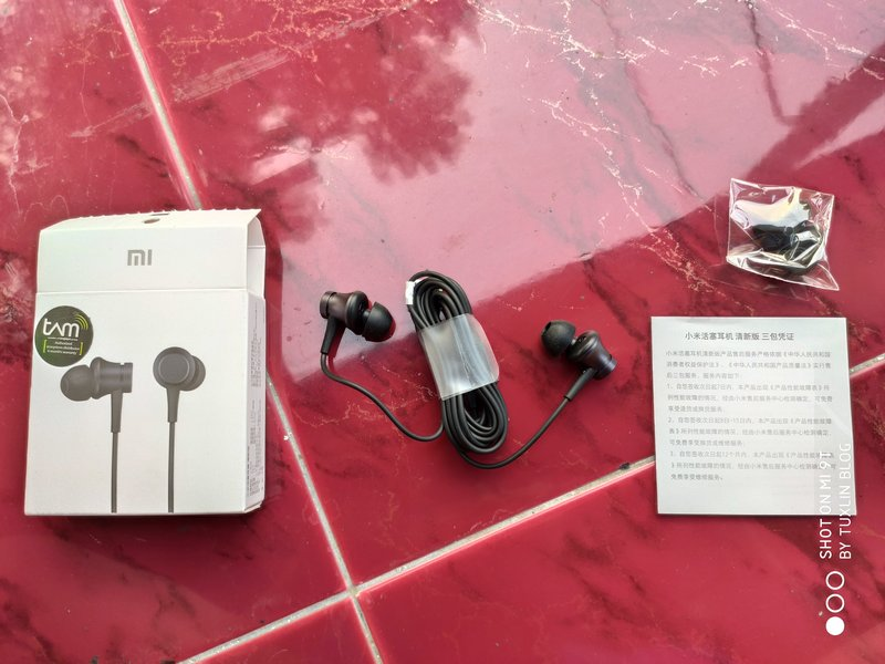 Paket Pembelian Xiaomi Mi In-Ear Headphones Basic